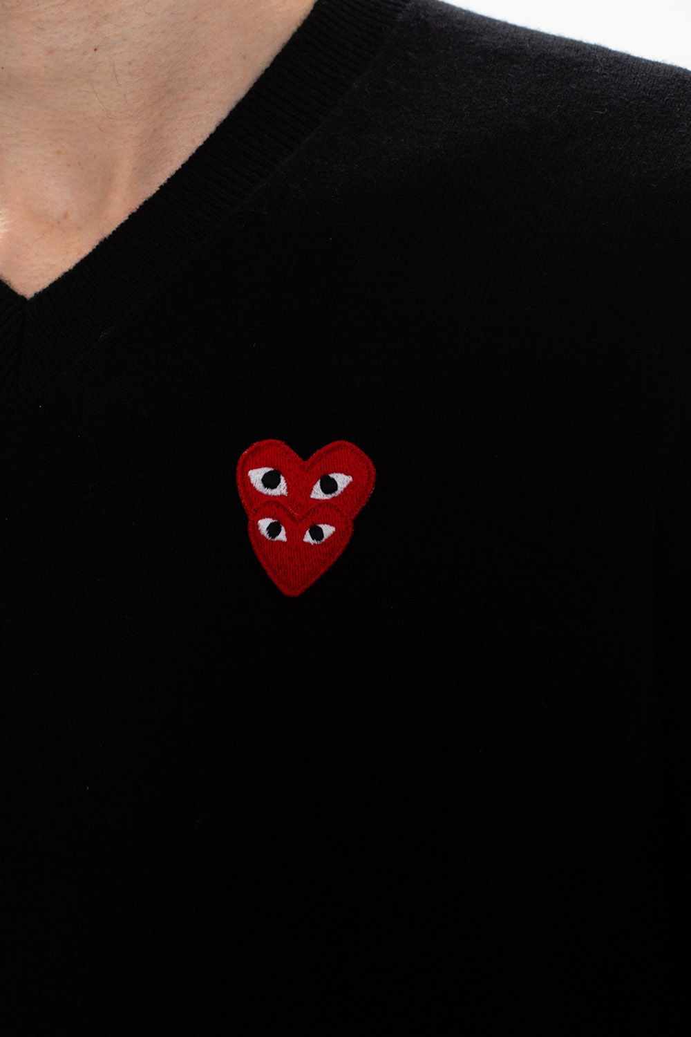 Comme des Garcons Play Sweater with logo