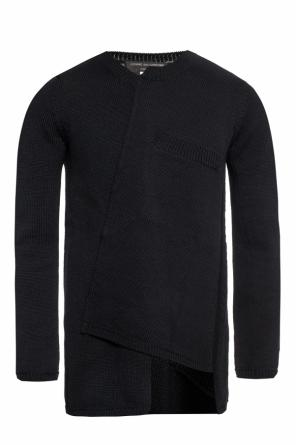 Asymmetrical sweater with chest pocket od Comme des Garcons Homme Plus