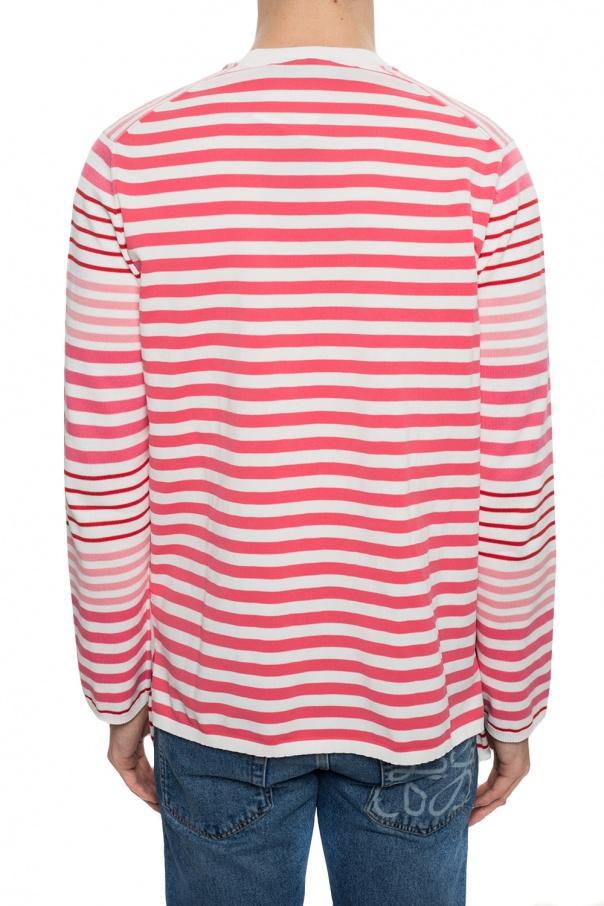 Comme des Garcons Homme Plus Sweter ze wzorem w pasy OBShzjMi