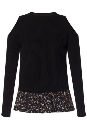 'pepper' denuded shoulders sweater od AllSaints