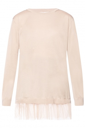 Tulle-trimmed sweater od Valentino Red