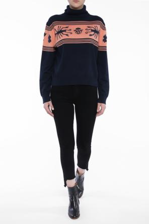 Embroidered turtleneck sweater od Paul Smith