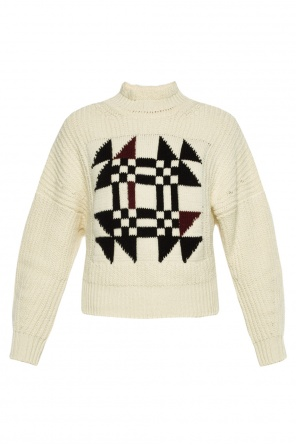 Cropped braided turtleneck sweater od Isabel Marant