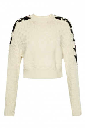 Cropped braided sweater od Isabel Marant