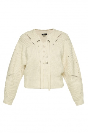 Lacing detail cropped sweater od Isabel Marant