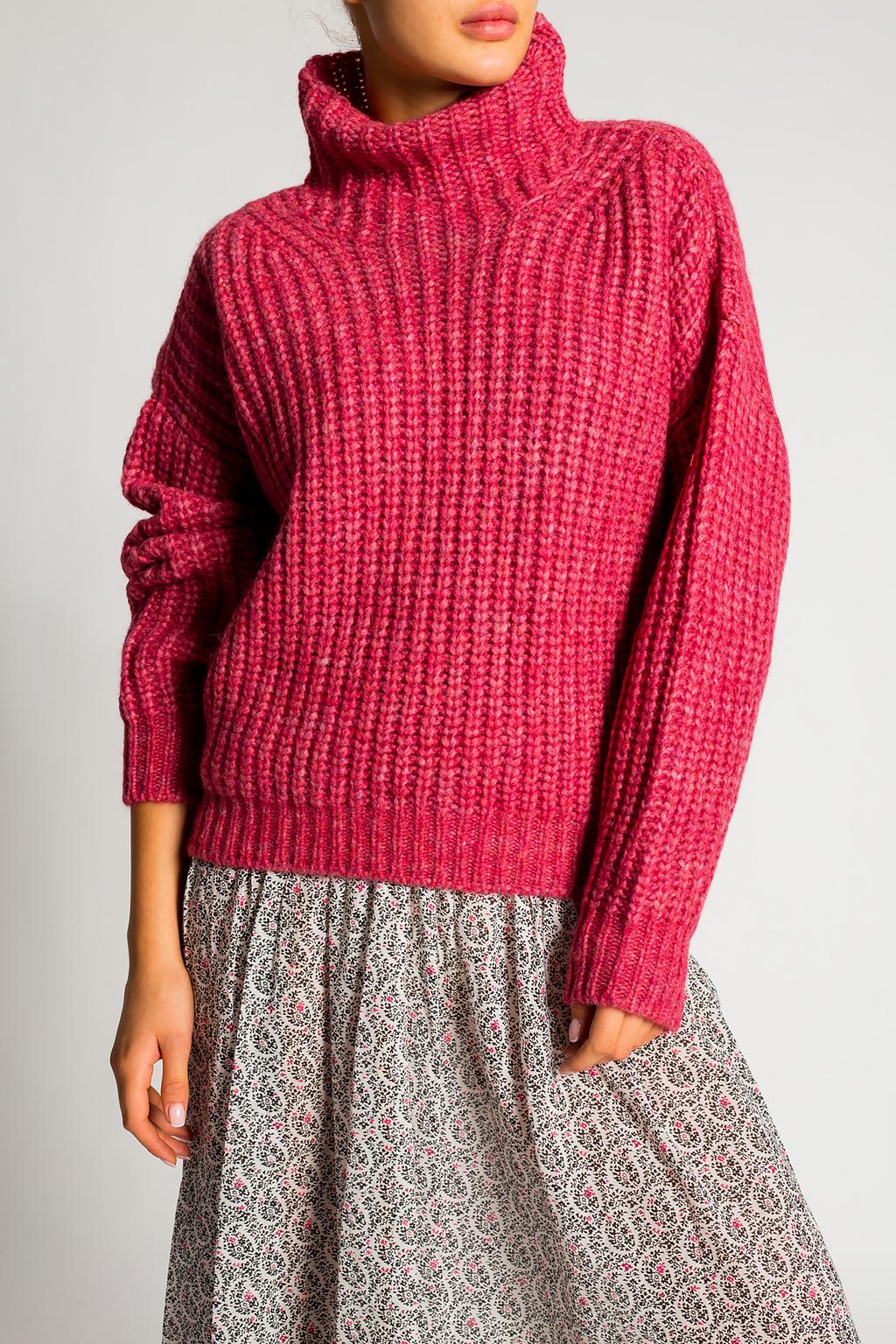 Isabel Marant Rib-knit turtleneck sweater