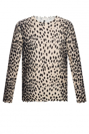 Cashmere sweater with leopard pattern od R13