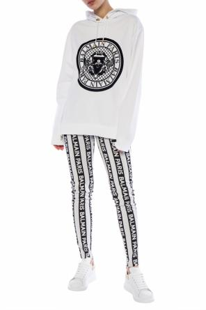 Printed hooded sweatshirt od Balmain