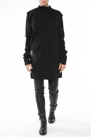 Long sweater with slit od Rick Owens