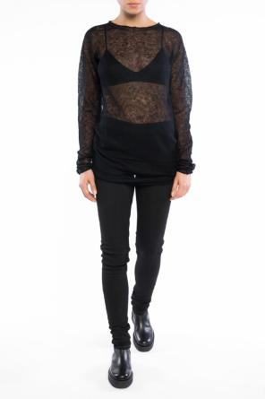 Sheer sweater od Rick Owens