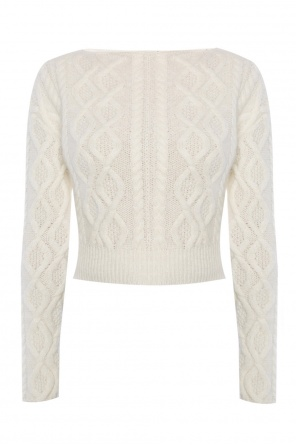 Cropped braided sweater od Lanvin