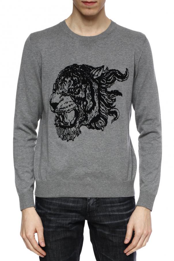 embroidered sweater just cavalli vitkac shop online. Black Bedroom Furniture Sets. Home Design Ideas