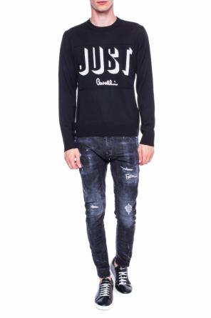 Logo-embroidered sweater od Just Cavalli