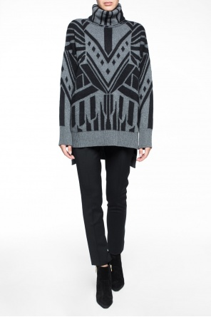 Patterned turtleneck sweater od Just Cavalli