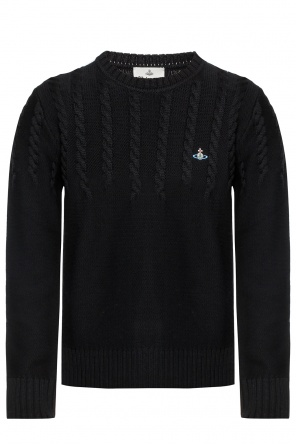 Ribbed sweater with logo od Vivienne Westwood