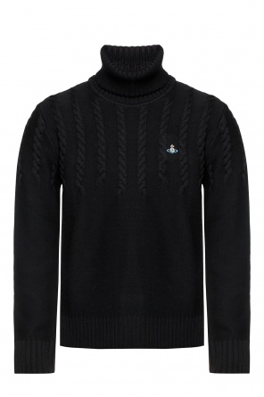Ribbed turtleneck sweater with logo od Vivienne Westwood