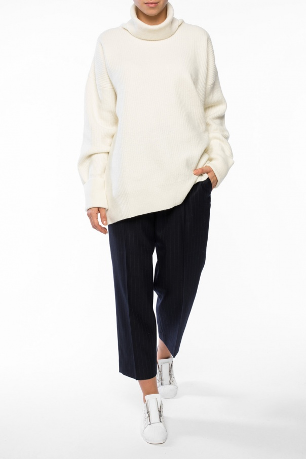 Elbow-patched turtleneck sweater od Maison Margiela