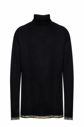 Embroidered turtleneck sweater od Maison Margiela