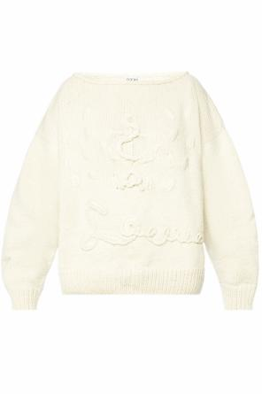 Braided sweater with logo od Loewe