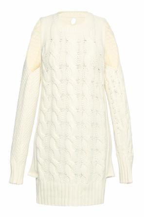 Detachable sleeve braided sweater od MM6 Maison Margiela