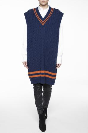 Plaited sleeveless sweater od Maison Margiela