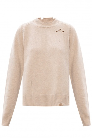 Sweater with distinctive rips od Maison Margiela