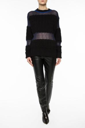 Sweater with sheer inserts od Maison Margiela