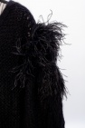 Loewe Cardigan with ostrich feathers