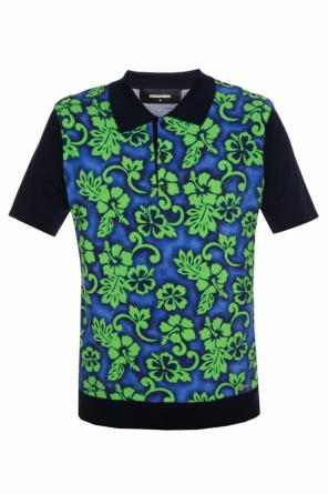 Floral motif polo od Dsquared2