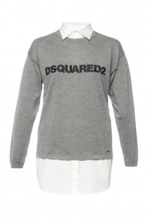 Shirt effect sweater od Dsquared2