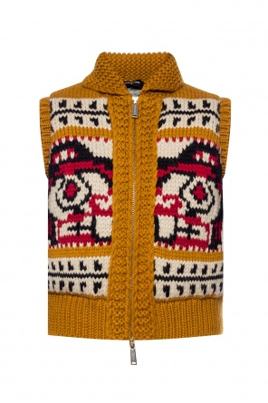 Patterned insulated vest od Dsquared2