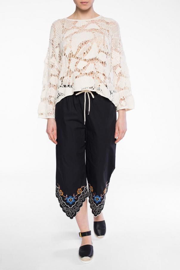 openwork sweater see by chloe vitkac shop online. Black Bedroom Furniture Sets. Home Design Ideas
