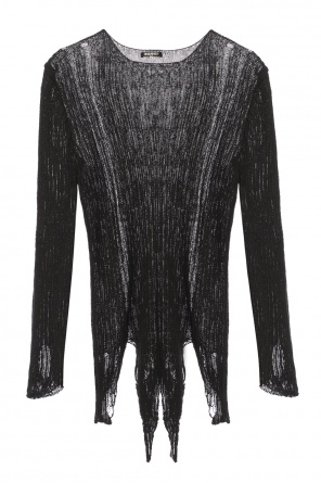 Raw-trimmed sweater od Balmain