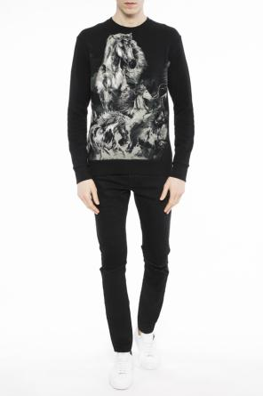Sweatshirt with motif of horses od Balmain