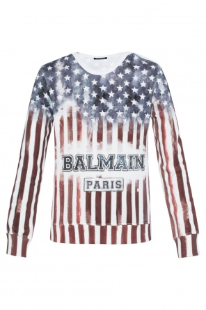 Patterned sweatshirt with logo od Balmain