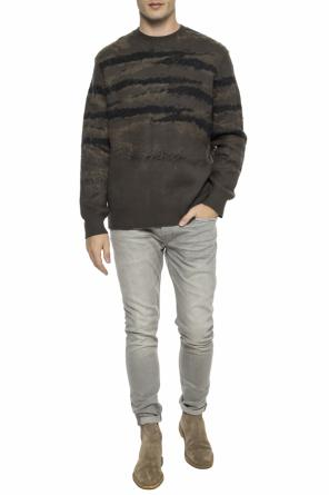 'sandalwood' sweater with an embroidered pattern od AllSaints