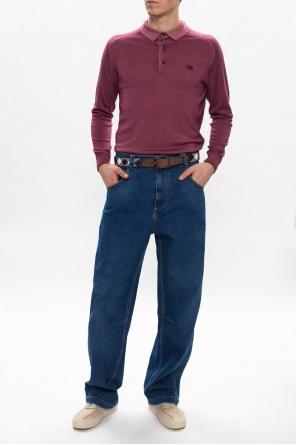 Long sleeve polo shirt od Etro