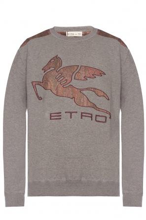 Patched sweatshirt od Etro