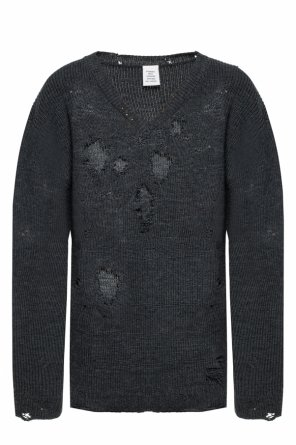 Wool sweater with holes od Vetements
