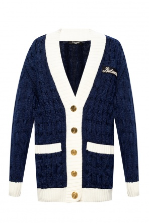 Cardigan with logo od Balmain