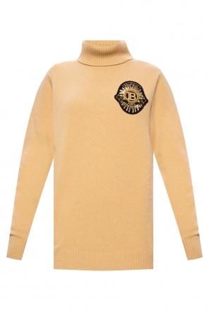 Turtleneck sweater with logo od Balmain
