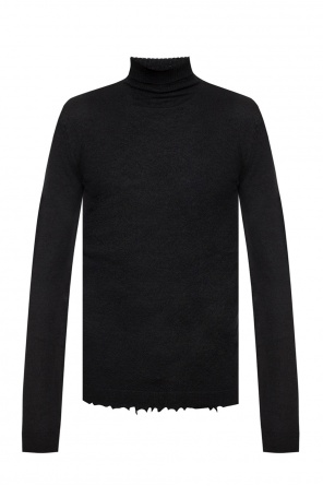 Raw-trimmed turtleneck sweater od Unravel Project