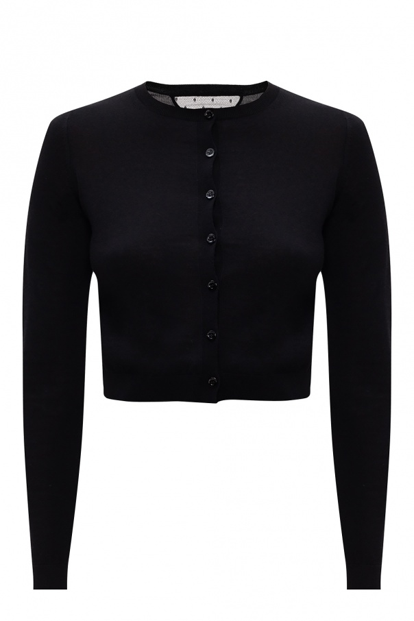 Red Valentino Cardigan with lace insert