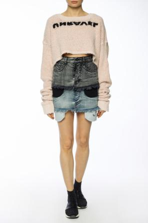 Printed cropped sweater od Unravel Project