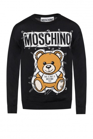 Sweater with embroidered pattern od Moschino