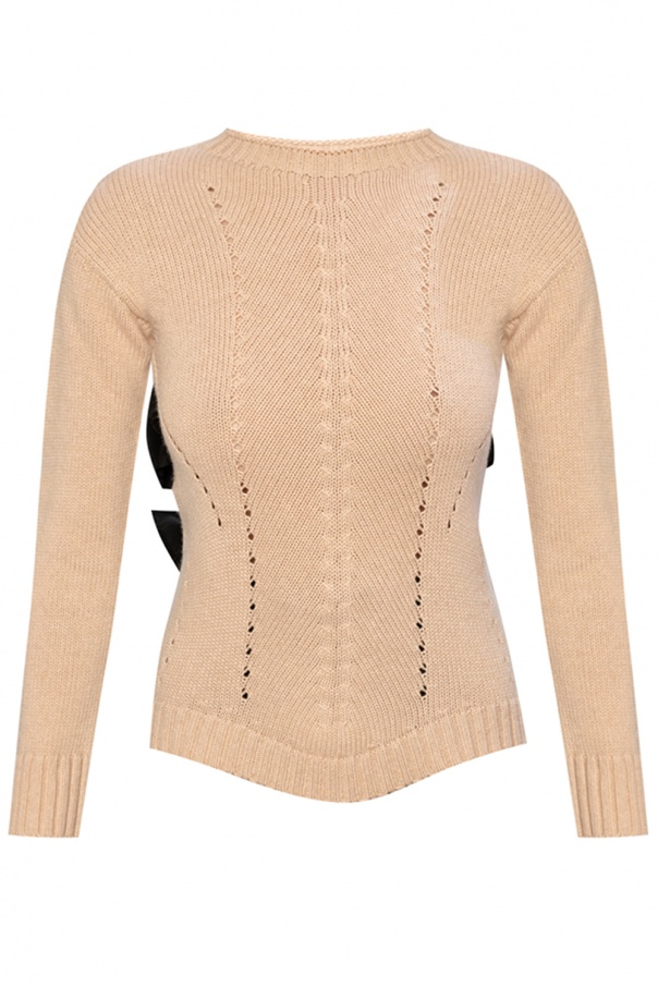 Red Valentino Sweater with tie detail