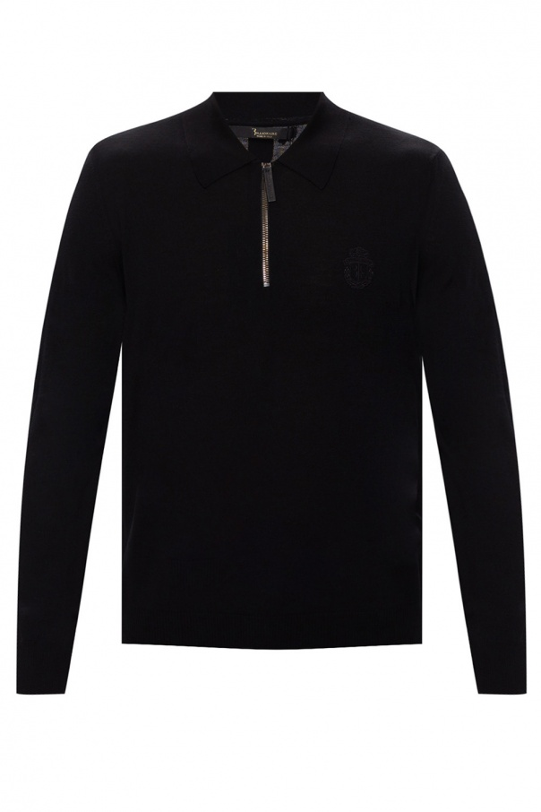 Billionaire Branded knit polo shirt