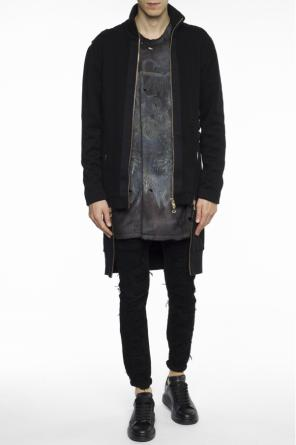 Long asymmetrical sweatshirt od Balmain