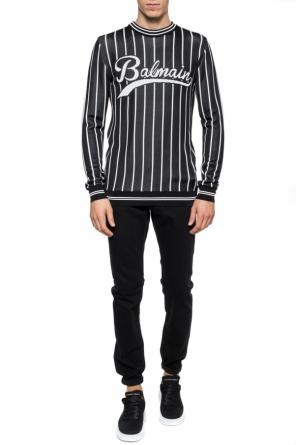Logo-embroidered sweater od Balmain
