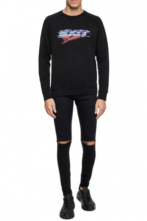 Distressed sweatshirt od Balmain